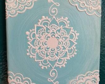 Dainty Blue Mandala