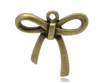 5 charm node bronze 26X25mm