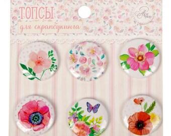 scrapbooking flair buttons flowers