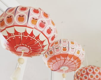 "Chinese Lantern ""Pampillon"" pattern apples. 3 designs to choose from"