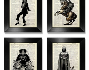 Star Wars Darth VADER Poster, STAR WARS Poster, Star Wars Art, Star Wars Wall Art, Star Wars Print Set, Star Wars Decor, Darth Vader Hobbies