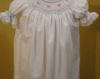 Special Occasion Toddler/Girl's Hand Smocked Bishop Dress - Sz 2t