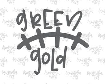 Green and Gold Laces svg, Football Green and Gold svg, Football Laces, Football Team svg, Team Colors svg, School Colors svg, SVG cut file