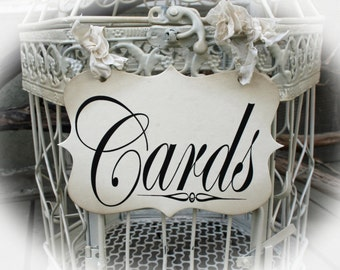 Wedding Sign -Cards Sign for Cards birdcage or Cards wedding box