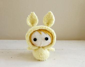 Mini Bunny Baby Nora, Cute stuffed animal, bunny stuffed animal, baby doll