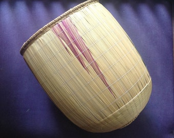African basket made using vegetal fibers