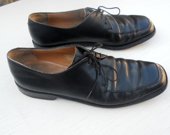 Vintage Men's Salvatore Ferragamo Black Dress Shoes Size 11.5 D FREE SHIPPING