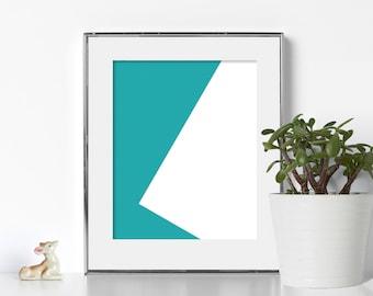 Geometric Design Architecture Digital Download Printable Art Geometric Print Noir Bauhaus  Cubical Decor Download Print Modern Abstract Zen