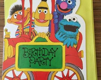 Vintage | Sesame Street | Birthday Party | Invitations c.1977
