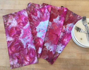 Ice Dyed Napkins, Seamed - #041, Set of 4