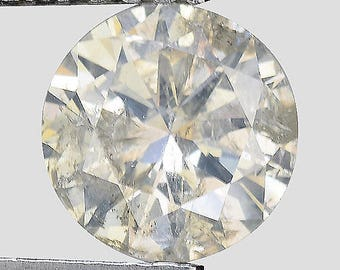 """0.90cts 6.3mm Sparkling Champagne Natural Loose Diamond """"SEE VIDEO"""""""
