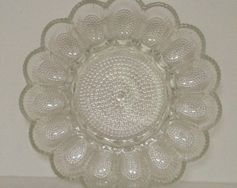 Clear Glass Deviled Egg Dish