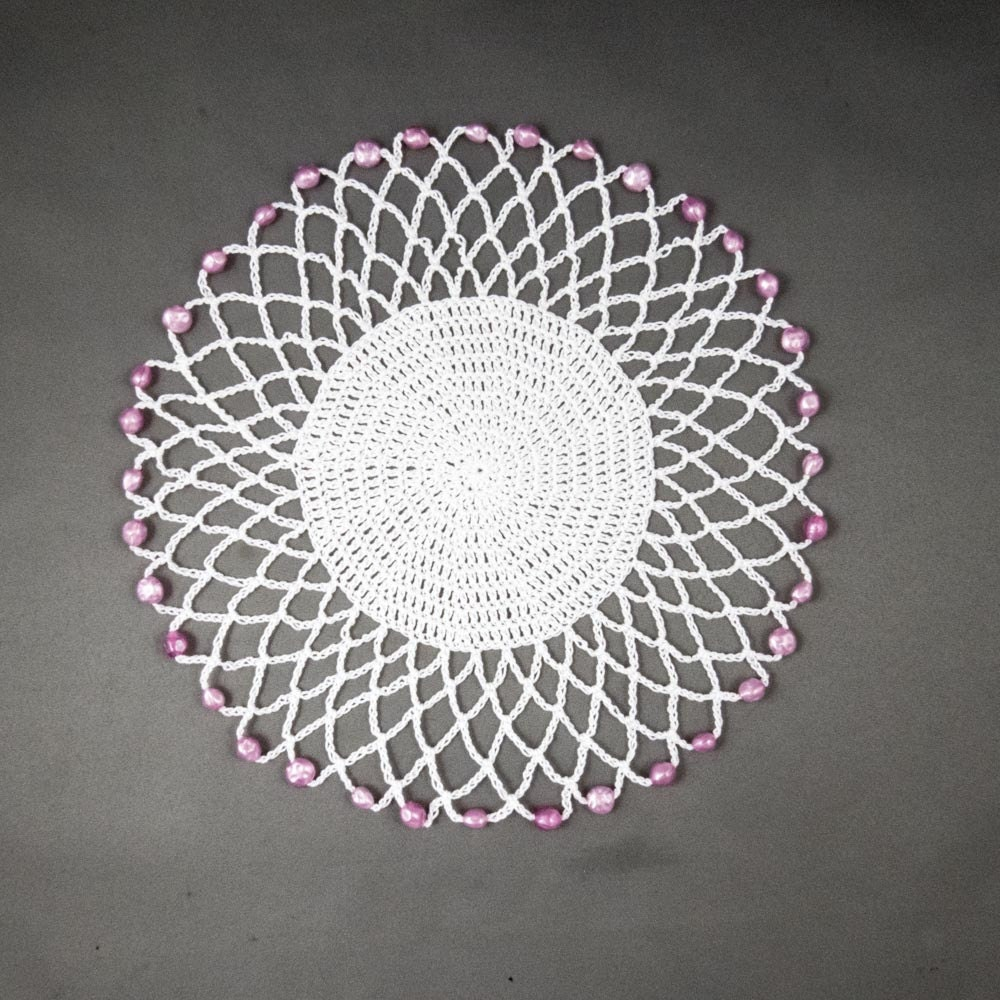 UK Crochet PATTERN for Easy Jug Cover, Glass Cover, Beaded Doily, UK ...