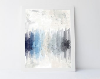 Icy shades print, icy blue, icy print, abstract print, printable art, winter print, winter wall art, winter decor, bedroom print, abstract