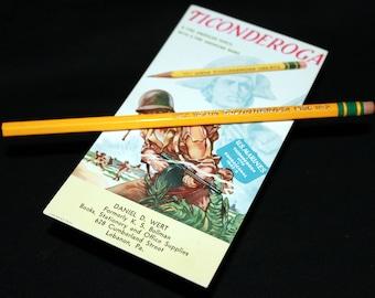Dixon Ticonderoga 1386 No.2 Pencil with WWII Era Plastic Ferrule and Blotter