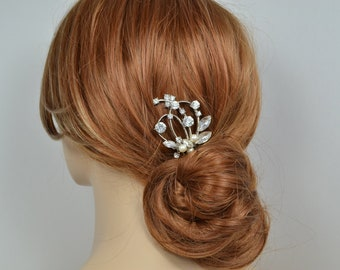 Bridal Hair Comb Swarovski Pearls Sparkly Crystals - Will Ship in 3-5 Business Days