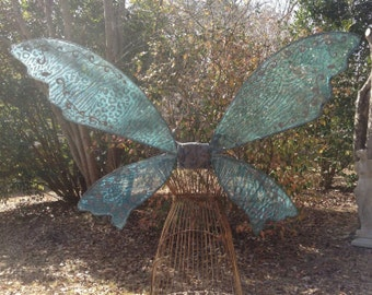OOAK  Fantasy  Wings Turquoise Animal print Large