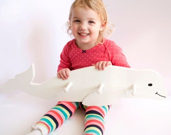 Beluga Whale Clothes Hook / Coat Hook / Hanger / Children's Room / Nursery / Kid's Decor / Animal Decor
