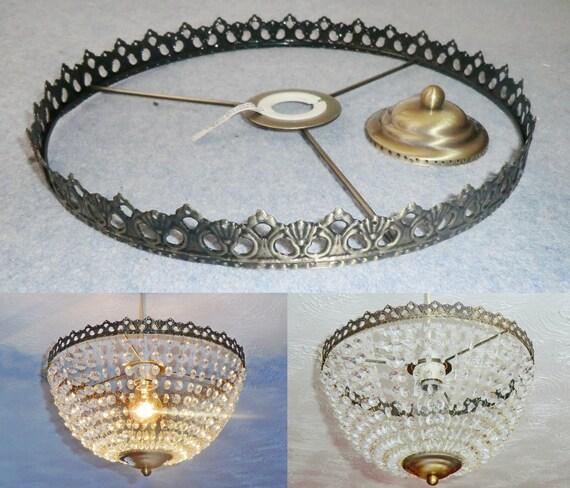 Basket chandelier metal frame skeleton make your own te gusta este artculo aloadofball Images