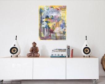 Talking In Circles - Abstract Painting Original Art