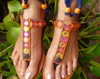 EXTRA Boho Switchable Fancy Colorful Embroidery Switchable Adaptable With Pakashoes Sole Free shipping