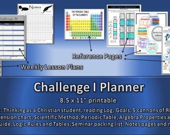 CC Challenge 1 Homeschool Student Planner 2017-18