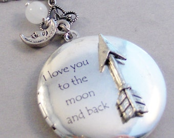 Arrow Love,Arrow Locket,Arrow Wings,Locket,Silver Locket,,Antique Locket,Nature,Woodland,Love You to the moon,valleygirldesigns.