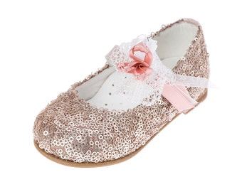 Leather shoes baby girl shoes gold shoes handmade elegant shoes baby wedding shoes baby baptism shoes size 4 5 6 7 8 9 US EU