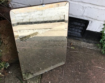 Stunning Frameless Mirror, Small Rectangular Mirror with rounded edges.