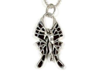 Butterfly Jewelry For Women, Unusual Butterfly Jewelry, Fairy Butterfly Jewelry, Robin Wade Jewelry, Freya Is Ready To Fly, Art Pendant,2490