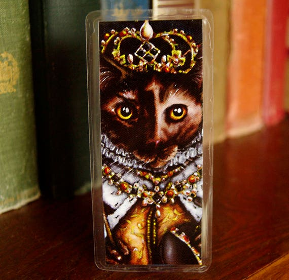 Queen Elizabeth I Tudor Cat Bookmark