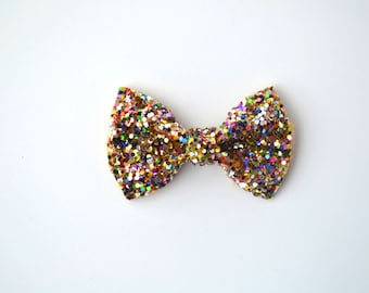 Multi Glitter TINY Alligator Clip Little Bow for Newborn Baby Child Little Girl Adult Photo Prop Adorable Photo Pictures Spring Summer Clip