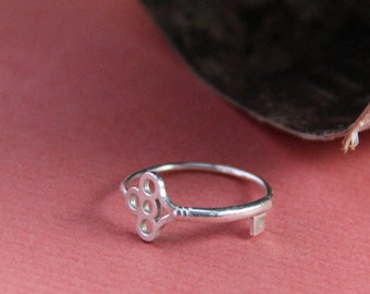 Sterling Key Ring- Free Shipping, sterling ring, silver ring, silver stacking ring, sterling silver