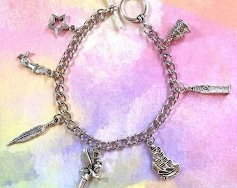 Peter Pan Tinkerbell Charm Bracelet