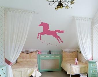 Unicorn Decal Sticker Vinyl Wall ~ Item 0282