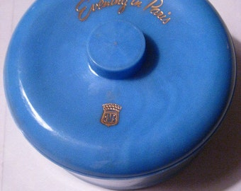 1950s EVENING In PARIS Face Powder In Bath POWDER Box