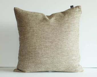 Kdays Burlap Look Light Brown Pillow Cover Decorative For Couch Throw Pillows Handmade Cushion Covers Rustic Pillow Farmhouse Pillow Cover