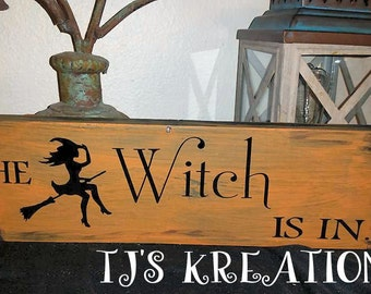 Distressed the witch is in sign