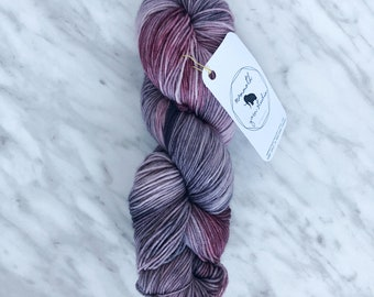 "Hand Dyed ""Mrs.  Wesley""  Grey, Red"