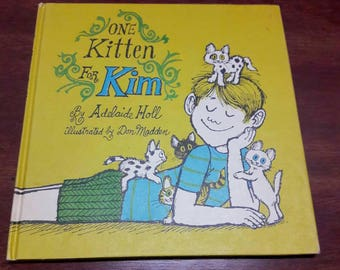 One Kitten For Kim by Adelaide Holl, Vintage Illustrated Weekly Reader