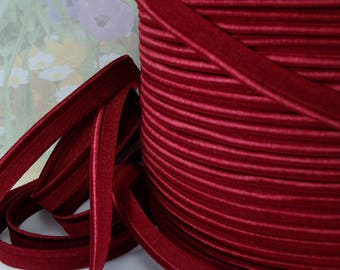 5yds Elastic Piping Red 1/2 inch 12mm Beet Red Lingerie bra making supplies Stretch Trim Lip Cord 5yds elastic by the yard ppl