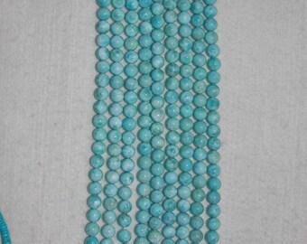 Larimar, Larimar Bead, 8 mm, A, Smooth Bead, Natural Stone, Semi Precious Bead, Gemstone Bead, Blue Bead, HALF Strand, AdrianasBeads