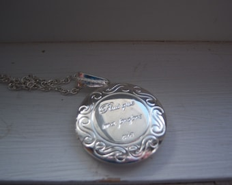 Love Locket Necklace -I love You Necklace - More Then My Own Life - Free Gift With Purchase