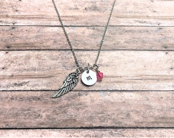 Angel Wing Necklace - Guardian Angel Gift - Memorial Necklace - Memorial Gifts - Remembrance Jewelry - Guardian Angel Gift - Infant Loss