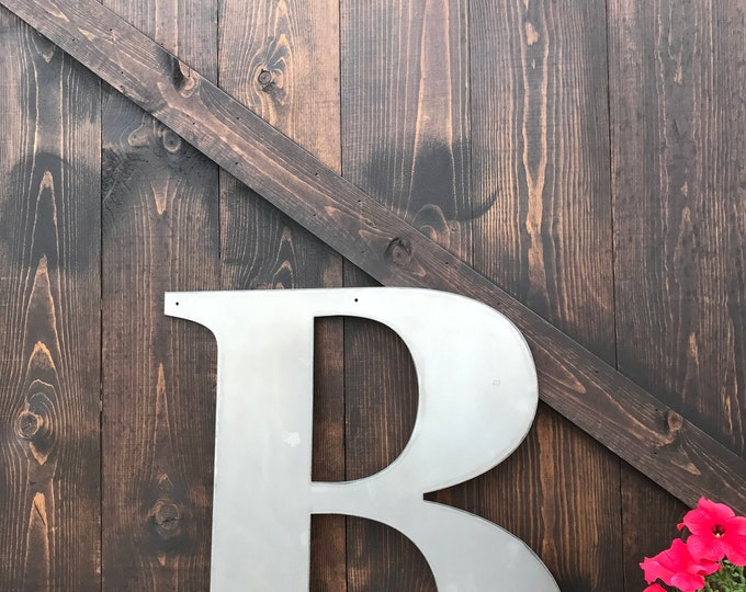 "36"" Metal Letters, Large Monograms, Rustic Letters, Rusted Metal, Farmhouse Decor, Fixer Upper Style, Shabby Chic Letter, Country Home Decor"