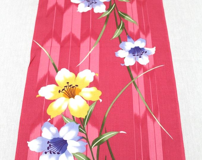 Japanese Vintage Yukata Cotton Fabric. Full Bolt Available (Ref: 1552)