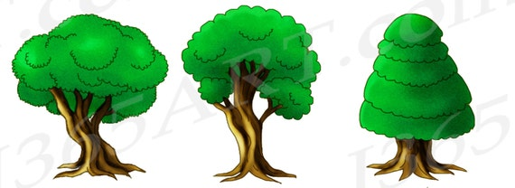 50 off tree clipart tree clip art green forest clipart rh etsy com forest clipart backgrounds forest clipart backgrounds