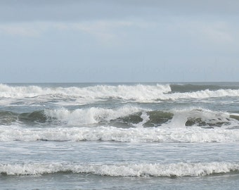 Blue Beach Photography, Beach Print, Nature Photography, Coastal Wall Art, Beach Art, Ocean Photography, Beach Decor,Shore Decor,Ocean Print