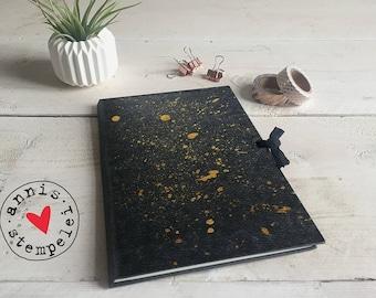 """Sketch book/workbook - """"Gold speckles"""", grey, 15 x 22"""