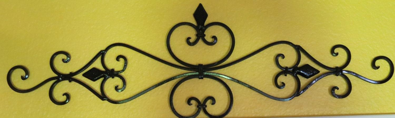 Fleur de Lis Metal Wall Decor/ Scrolled Wrought Iron Wall